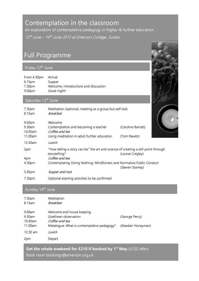 Emerson weekend Full Programme Photo