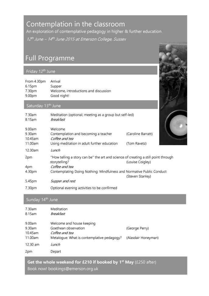 Emerson weekend Full Programme Photo
