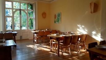 Light filled dining hall