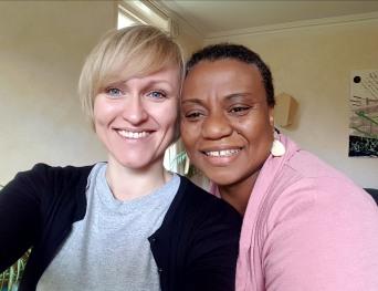 Michelle and Caroline